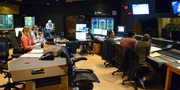 The music team at work on <i>Snatched</i> in the booth at Fox