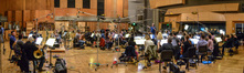 Conductor Pete Anthony and the Hollywood Studio Symphony record a cue for <i>Snatched</i>