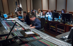 The music team on <i>Star Trek: Discovery</i>: (front row) orchestrator Amie Doherty, studio assistant Caleb Hsu, scoring mixer Michael Perfitt; (back row) archivist assistant Lauren Payne, score editor Matea Prljevic, booth reader Jordan Gagne, scoring assistant Perrine Virgile, and score prep Tracie Turnbull
