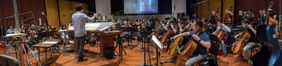 Composer/conductor Jeff Russo records his score to <i>Star Trek: Discovery</i> with the orchestra