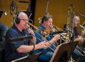 Trombonists Alex Iles and Steve Holtman with tuba player Doug Tornquist