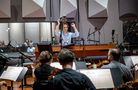The orchestra records with composer/conductor Jeff Russo