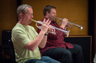Trumpet players Jon Lewis and Rob Schaer