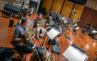 The brass section records a cue for <i>Aquaman</i>