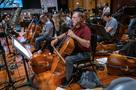 Cellist Steve Erdody rehearses a solo for <em>Aquaman</em>