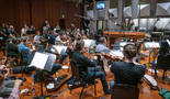 The Hollywood Studio Symphony performs a cue with conductor Nick Glennie-Smith