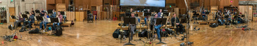 A panorama of the brass session for <em>The Darkest Minds</em>