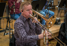 Phil Keen plays the trombone
