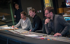 Director David Leitch, composer Tyler Bates, and scoring mixer Gustavo Borner
