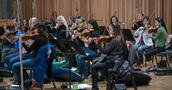 The violin section on <em>Deadpool 2</em>
