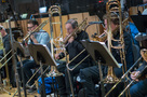 Trombonists Nick Daley, Alan Kaplan, and Steve Holtman