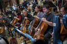 Cellists Cecilia Tsan, David Low, Giovanna Clayton, and Armen Ksajikian