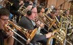Trombonists Alex Iles and Nick Daley