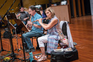 Chris Bleth and Geri Rotella perform on woodwinds
