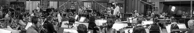 Conductor Pete Anthony and the Hollywood Studio Symphony record a cue for <em>Fifty Shades Freed</em>