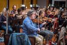 The violins perform on <em>Game Night</em>