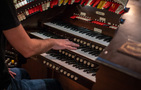 Mark Herman plays the restored 20th Century Fox scoring stage organ on the score for <i>The House with a Clock in Its Walls</i>