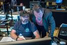 Stage recordist Tim Lauber and stage engineer Denis St. Amand