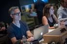 Music editor Chuck Martin and technical score advisor Hayley Rosenthal