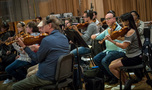 The violin section records a cue for <em>Maze Runner: The Death Cure</em>