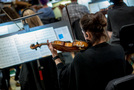 A violinist performs on <i>Maze Runner: The Death Cure</i>