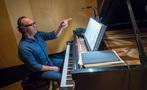 Pianist Randy Kerber asks a question