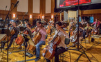 The cellos and low basses