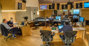 Inside the booth at the Synchron Scoring Stage