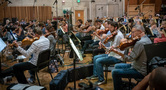 The orchestra performs a cue for <i>The Predator</i>