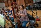 Patti Kindell performs on contrabassoon