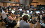 Gavin Greenaway conducts the orchestra