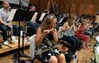 Flutist Jenni Olson performs on piccolo