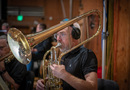 Tuba player Doug Tornquist performs on cimbasso