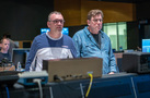 Composer Henry Jackman and scoring mixer Alan Meyerson