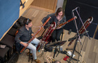 Damian Montano and Rose Corrigan on bassoons
