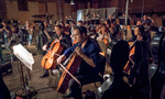 The cello section performs on <em>Rampage</em>