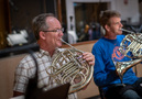 Teag Reaves and Steve Becknell on French horn