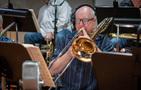 Alex Illes plays trombone