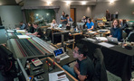 Inside the control room at Sony during the <em>Tag</em> scoring sessions
