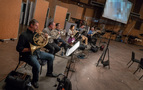 The French horn section on <em>Tag</em>