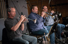 The trumpets: Jon Lewis, Rob Schaer and _____