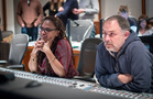 Director Ava DuVernay and scoring mixer Chris Fogel