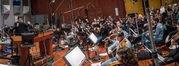 The Hollywood Studio Symphony performs a cue with composer/conductor Ramin Djawadi
