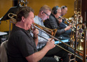 Trombonist Steve Holtman and the brass