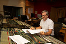 Composer John Powell inside the control room at Abbey Road Studios