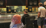 Scoring mixer John Whynot preps the ProTools as Mychael Danna and Jeff Danna check the levels at the Steakhouse Studio
