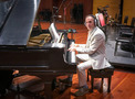 Mychael Danna performs piano on the score to <em>The Addams Family</em>