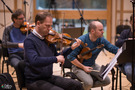 Violins playing the score by Pino Donaggio