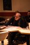 Composer Pino Donaggio giving feedback to the orchestra