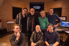 From top left to bottom right: Sian Bolland (Production Manager Music), Pino Donaggio (Composer), Natale Massara (Conductor/Orchestrator), Patrick Lemmens (Recording Engineer), Andrzej Boguslawski (Technical Assistant), Paolo Steffan (Composer's Assistant & Keyboard Programmer), Damiano Picci (Protools Operator)